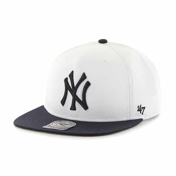 One Size 47/MLB New York Yankees Sure Shot 2-Tone Captain Cap Black//Grey B SRSTT17WBP BKF