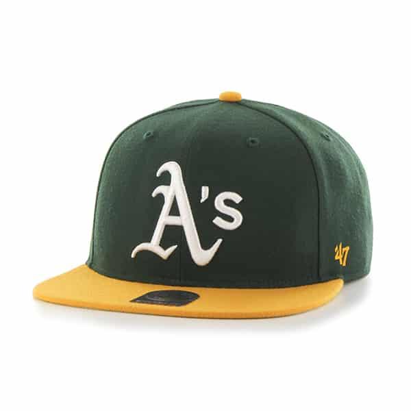 Oakland Athletics 47 Brand Dark Green Yellow Snapback Adjustable Hat