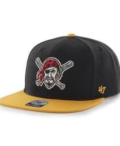 Pittsburgh Pirates Sure Shot Two Tone Captain Black 47 Brand Adjustable Hat