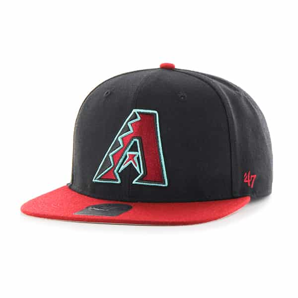 Arizona Diamondbacks Sure Shot Two Tone Captain Black 47 Brand Adjustable Hat
