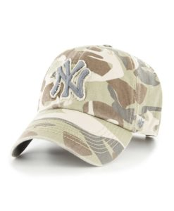 New York Yankees Tarpoon Faded Camo 47 Brand Adjustable Hat