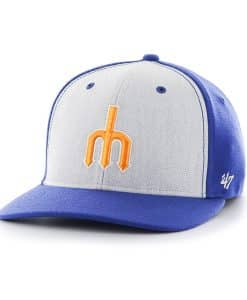 Seattle Mariners Backstop Contender Mf Royal 47 Brand Stretch Fit Hat