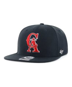 Los Angeles Angels 47 Brand Navy Cooperstown No Shot Snapback Hat