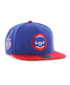 Chicago Cubs 47 Brand Blue Red Cooperstown Sure Shot Snapback Hat