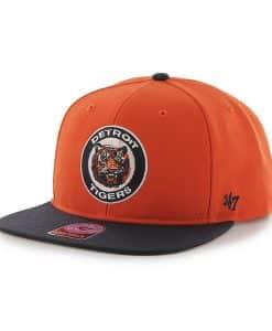 Detroit Tigers Sure Shot Two Tone Captain Orange 47 Brand Adjustable Hat