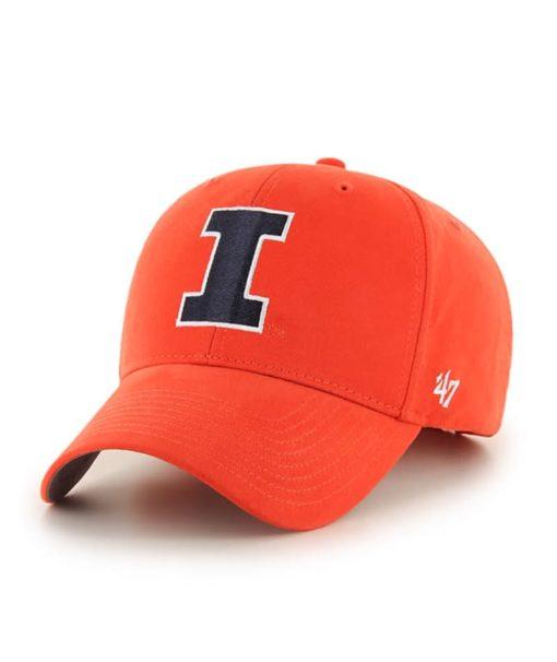 Illinois Fighting Illini 47 Brand Orange Basic MVP Adjustable Hat