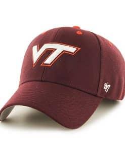 Virginia Tech Hokies Audible MVP Dark Maroon 47 Brand Adjustable Hat