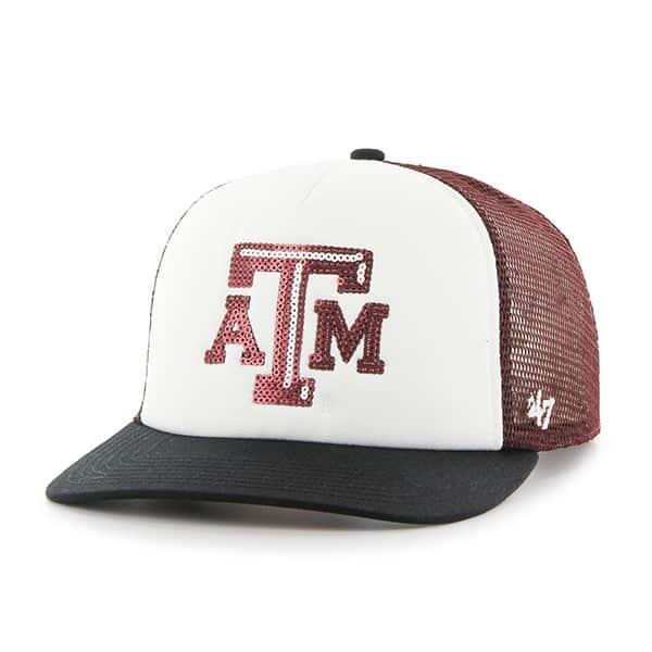 Texas A&M Aggies Women's 47 Brand Glimmer Captain Dark Maroon Hat