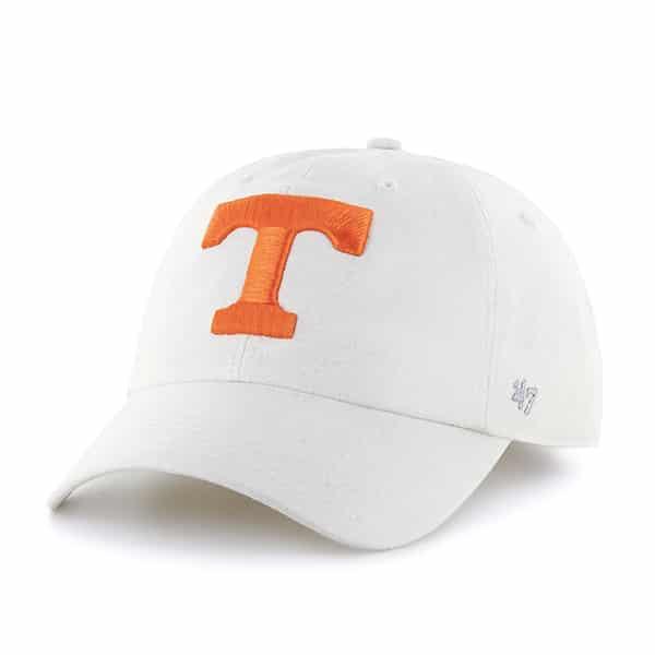 Tennessee Volunteers Women's 47 Brand White Luster Clean Up Adjustable Hat
