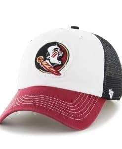 Florida State Seminoles Privateer Closer Black 47 Brand Stretch Fit Hat