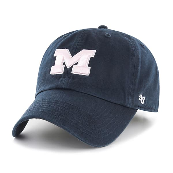 Michigan Wolverines Clean Up Navy 47 Brand YOUTH Hat