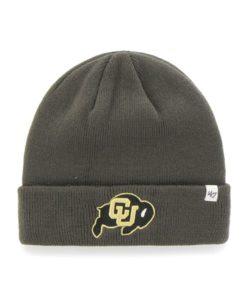 Colorado Buffaloes 47 Brand Charcoal Raised Cuff Knit Hat