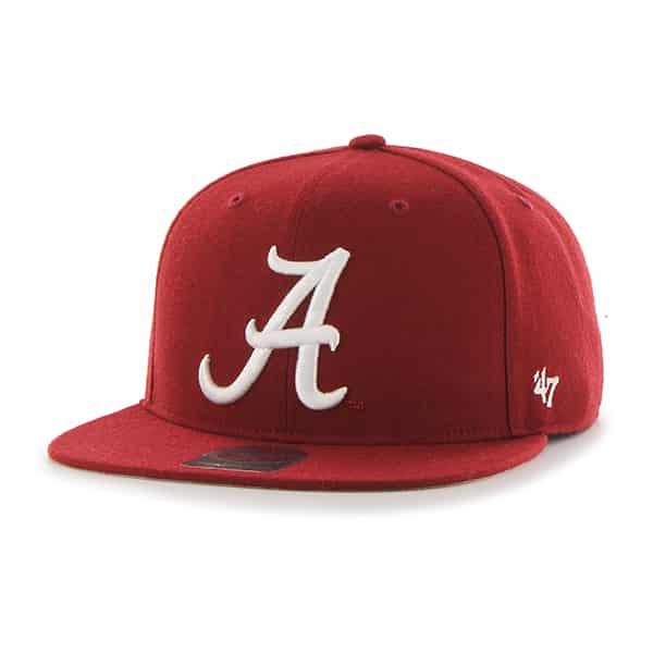 Alabama Crimson Tide Sure Shot Razor Red 47 Brand Adjustable Hat