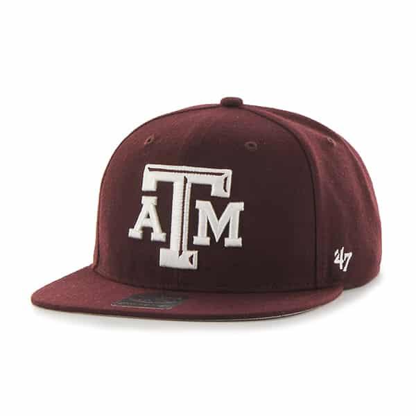 Texas A&M Aggies Sure Shot Dark Maroon 47 Brand Adjustable Hat