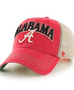 Alabama Crimson Tide Tuscaloosa Vintage Red 47 Brand Adjustable Hat