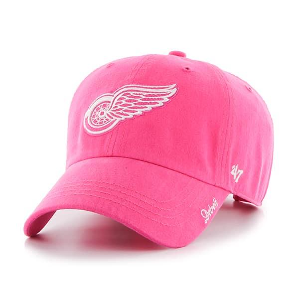 Detroit Red Wings 47 Brand Pink Adjustable Hat