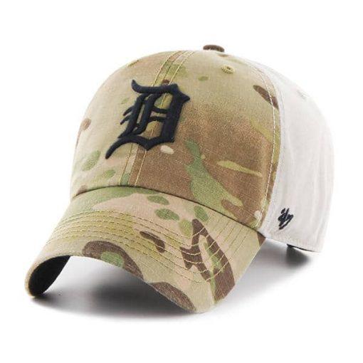 Detroit Tigers Sumner Camo Clean Up 47 Brand Adjustable Hat