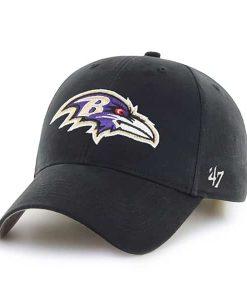 Baltimore Ravens KIDS 47 Brand Black MVP Adjustable Hat