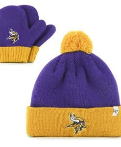 Minnesota Vikings Bam Bam Set Purple 47 Brand INFANT Hat