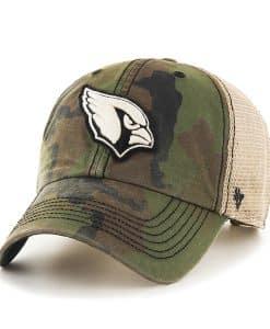 Arizona Cardinals Burnett Clean Up Frontline Green Camo 47 Brand Adjustable Hat