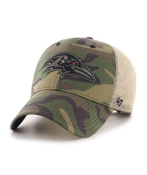 Baltimore Ravens 47 Brand Camo Branson MVP Adjustable Hat
