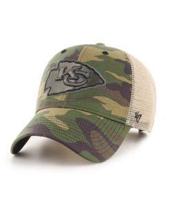 Kansas City Chiefs 47 Brand Green Camo Branson Mesh MVP Adjustable Hat