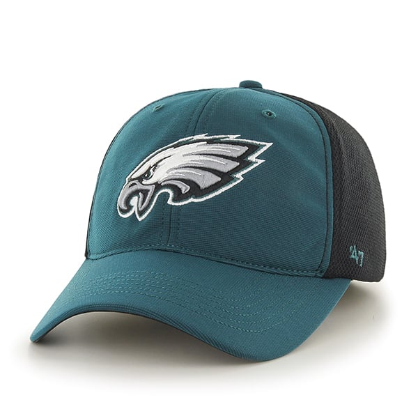 Philadelphia Eagles Draft Day Closer Pacific Green 47 Brand Stretch Fit Hat