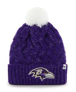 Baltimore Ravens Women's 47 Brand Fiona Purple Cuff Knit Hat