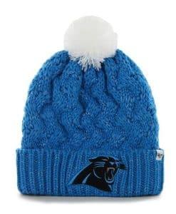 Carolina Panthers Fiona Cuff Knit Glacier Blue 47 Brand Womens Hat