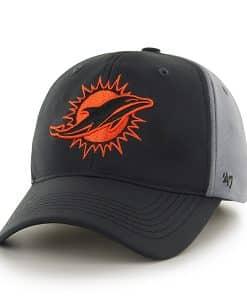 Miami Dolphins Feldspar Closer Dark Gray 47 Brand Stretch Fit Hat