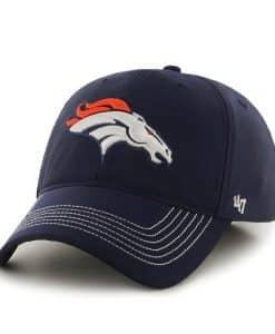 Denver Broncos Game Time Closer Light Navy 47 Brand Stretch Fit Hat