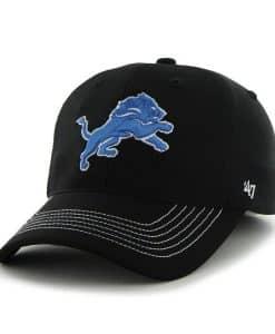 Detroit Lions Game Time Closer Black 47 Brand Stretch Fit Hat