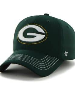 Green Bay Packers Game Time Closer Dark Green 47 Brand Stretch Fit Hat