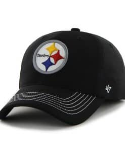 Pittsburgh Steelers Game Time Closer Black 47 Brand Stretch Fit Hat
