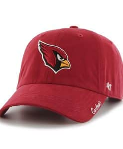 Arizona Cardinals Miata Clean Up Dark Red 47 Brand Womens Hat