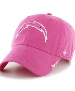 Los Angeles Chargers Women's 47 Brand Pink Clean Up Hat