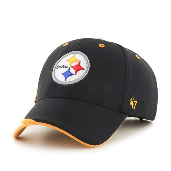 Pittsburgh Steelers Neutral Zone MVP Black 47 Brand Adjustable Hat