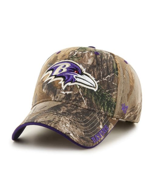 Baltimore Ravens 47 Brand Camo Realtree Frost MVP Adjustable Hat