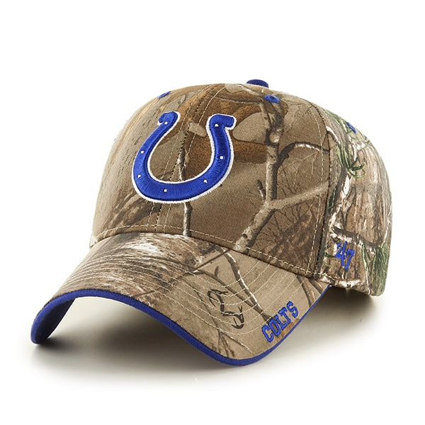 Indianapolis Colts 47 Brand Realtree Camo Frost MVP Adjustable Hat