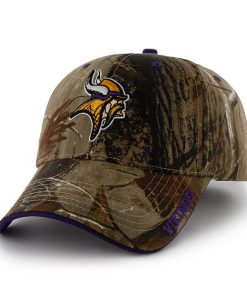 Minnesota Vikings 47 Brand Realtree Camo Frost MVP Adjustable Hat