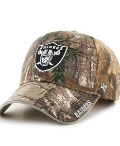 Las Vegas Raiders 47 Brand Realtree Camo Frost MVP Adjustable Hat