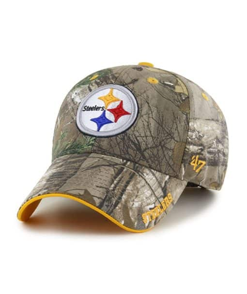 Pittsburgh Steelers 47 Brand Realtree Camo Frost MVP Adjustable Hat