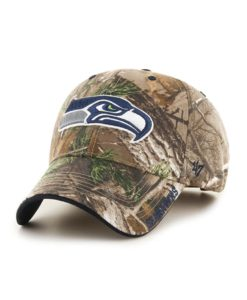 Seattle Seahawks 47 Brand Realtree Camo Frost MVP Adjustable Hat