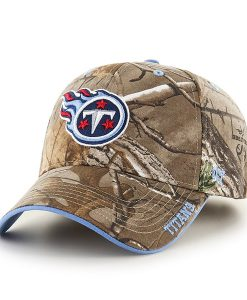 Tennessee Titans 47 Brand Realtree Camo Frost MVP Adjustable Hat