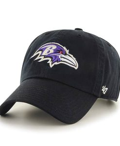 Baltimore Ravens Clean Up Black 47 Brand Adjustable Hat