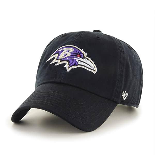 Baltimore Ravens Clean Up Black 47 Brand Adjustable Hat