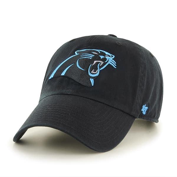 Carolina Panthers Clean Up Black 47 Brand Adjustable Hat