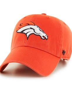 Denver Broncos Clean Up Orange 47 Brand Adjustable Hat
