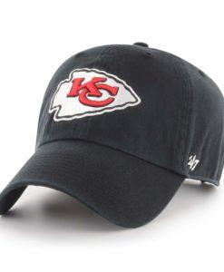 Kansas City Chiefs 47 Brand Black Clean Up Adjustable Hat