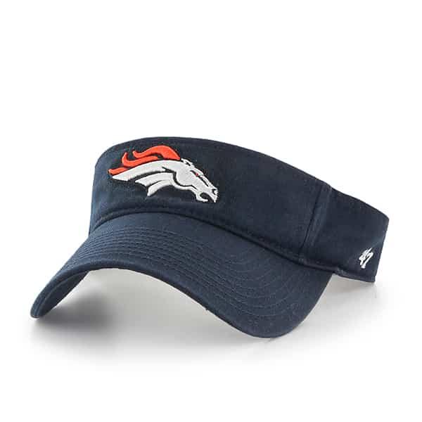 Denver Broncos Clean Up Visor Navy 47 Brand Adjustable Hat